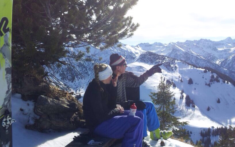 Ausblick auf der Skitour | Haus Alpenblick in Oberjoch